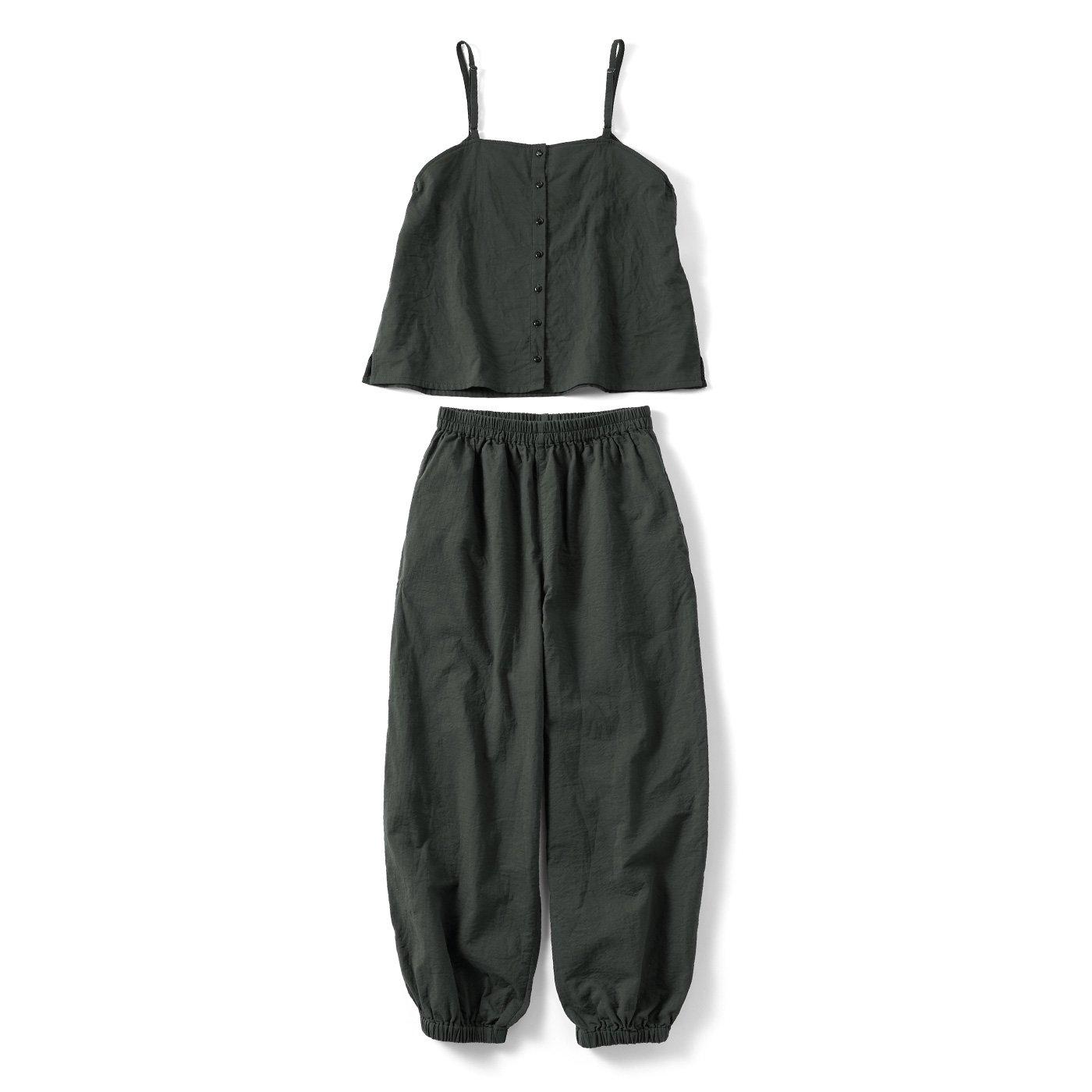 リブ イン コンフォート シンプルライフ研究家マキさんとつくった 何通りも着られる ダブルガーゼで軽やか 時短がかなう セットアップ〈チャコールグレー〉