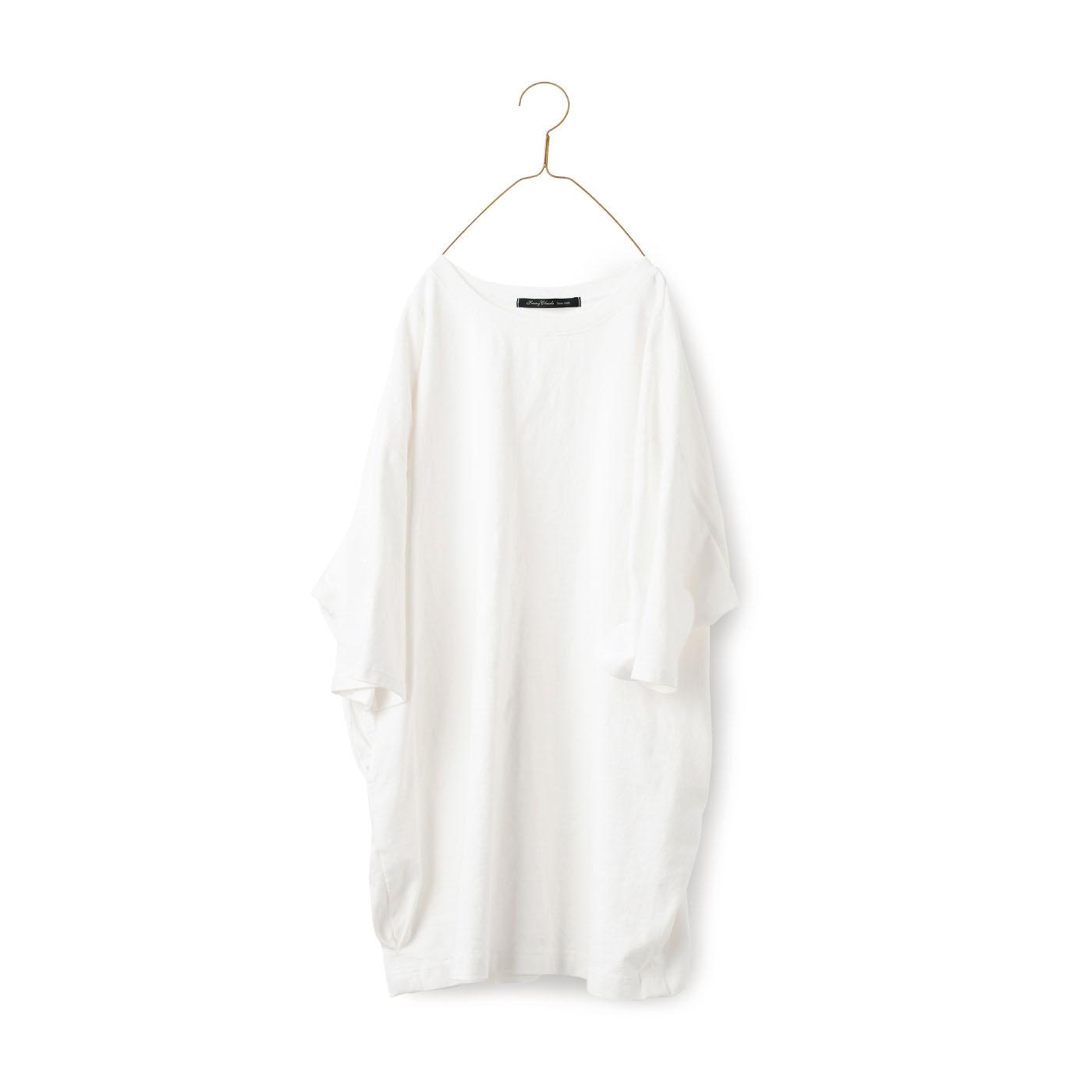 サニークラウズ Tシャツのようなワンピトップス白