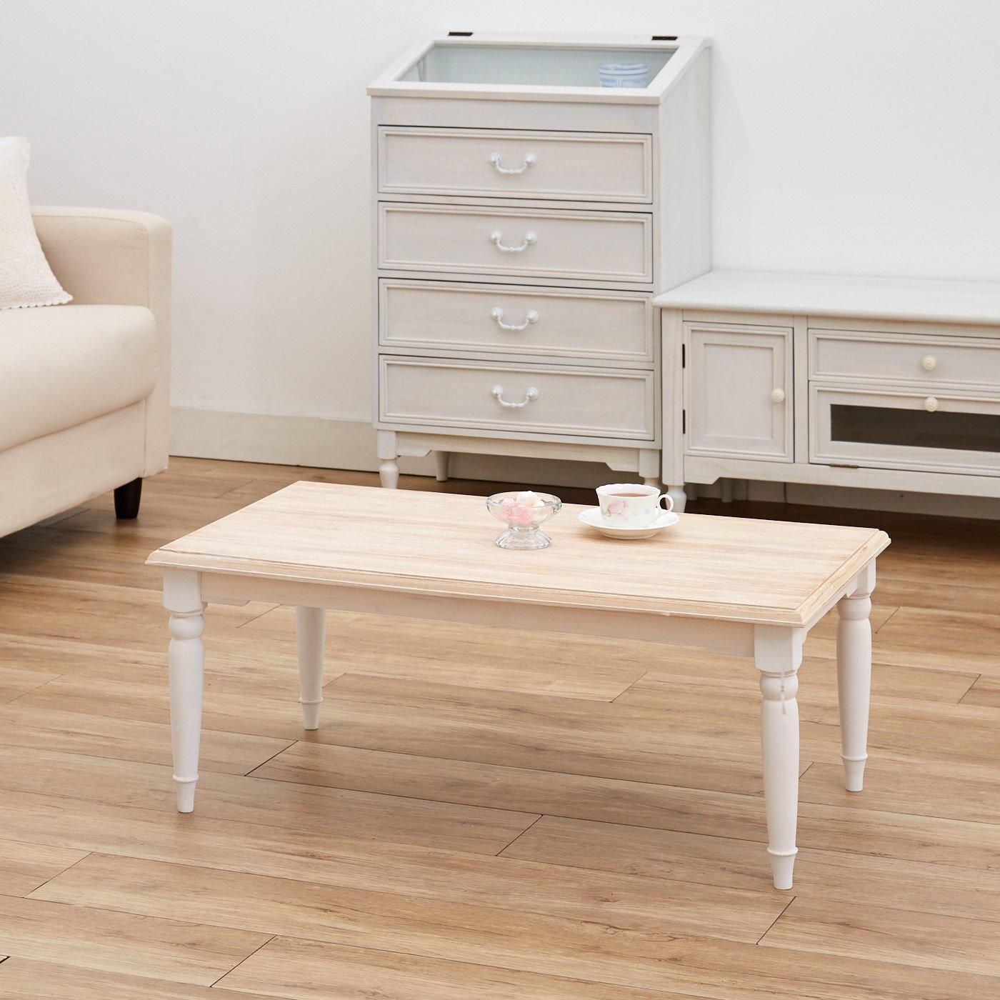 私らしい心地のいい家具 上品ローテーブル〈ナチュラル〉