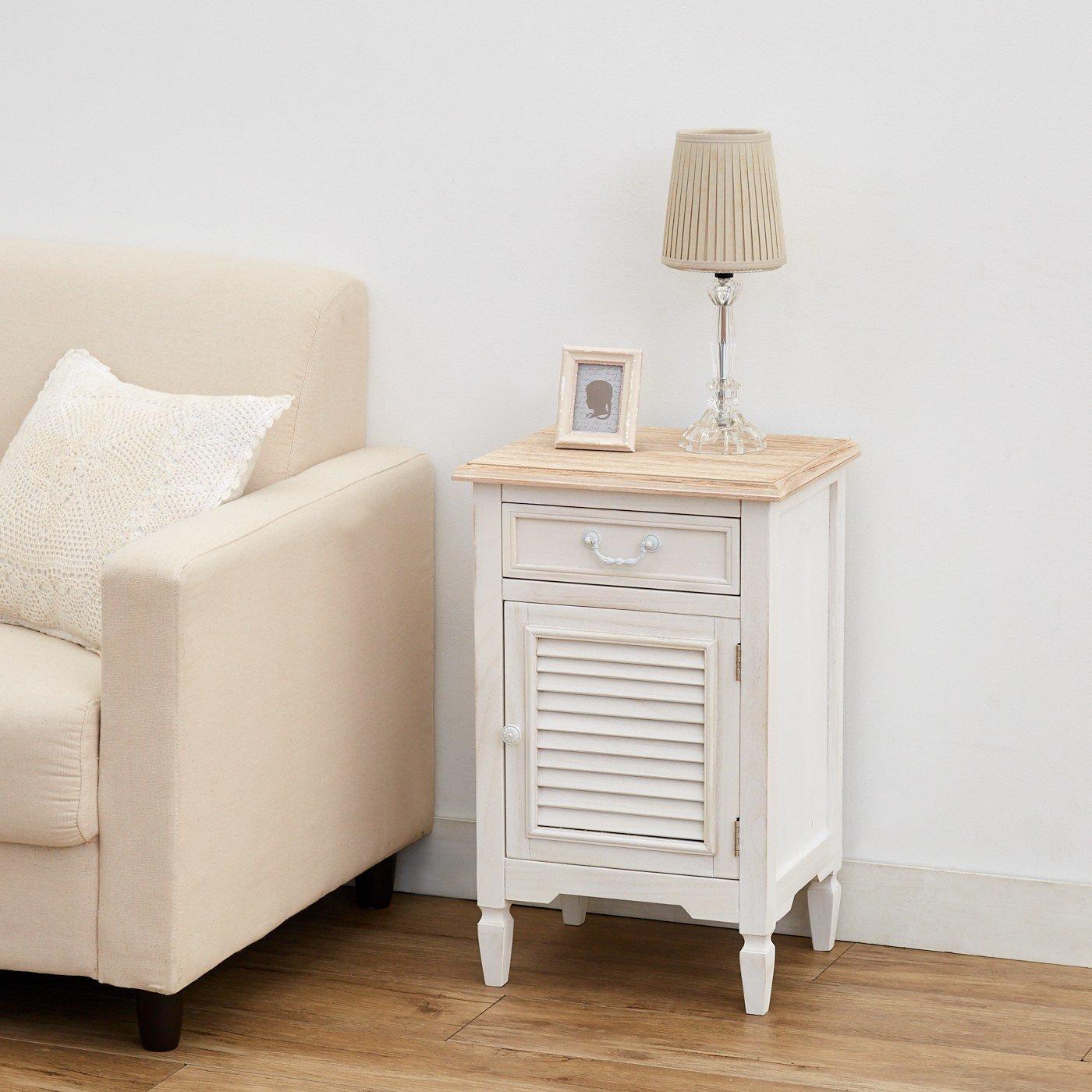 私らしい心地のいい家具 上品サイドチェスト〈ナチュラル〉