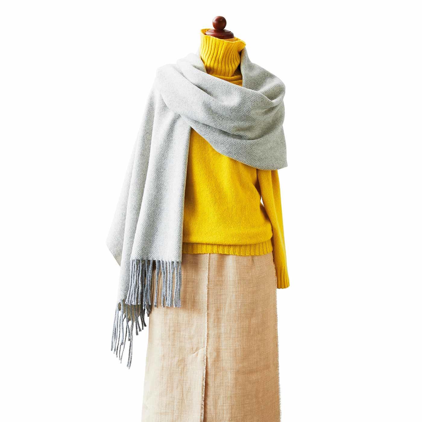 やさしい温もりにずっと包みこまれていたくなる 毛布屋さんのカシミア・シルク混大判ショール