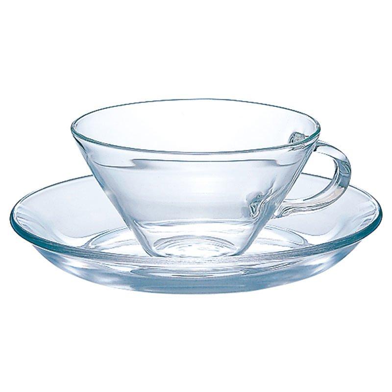 リラックスのひとときを彩る フォルムが美しい耐熱ガラスのカップ&ソーサー