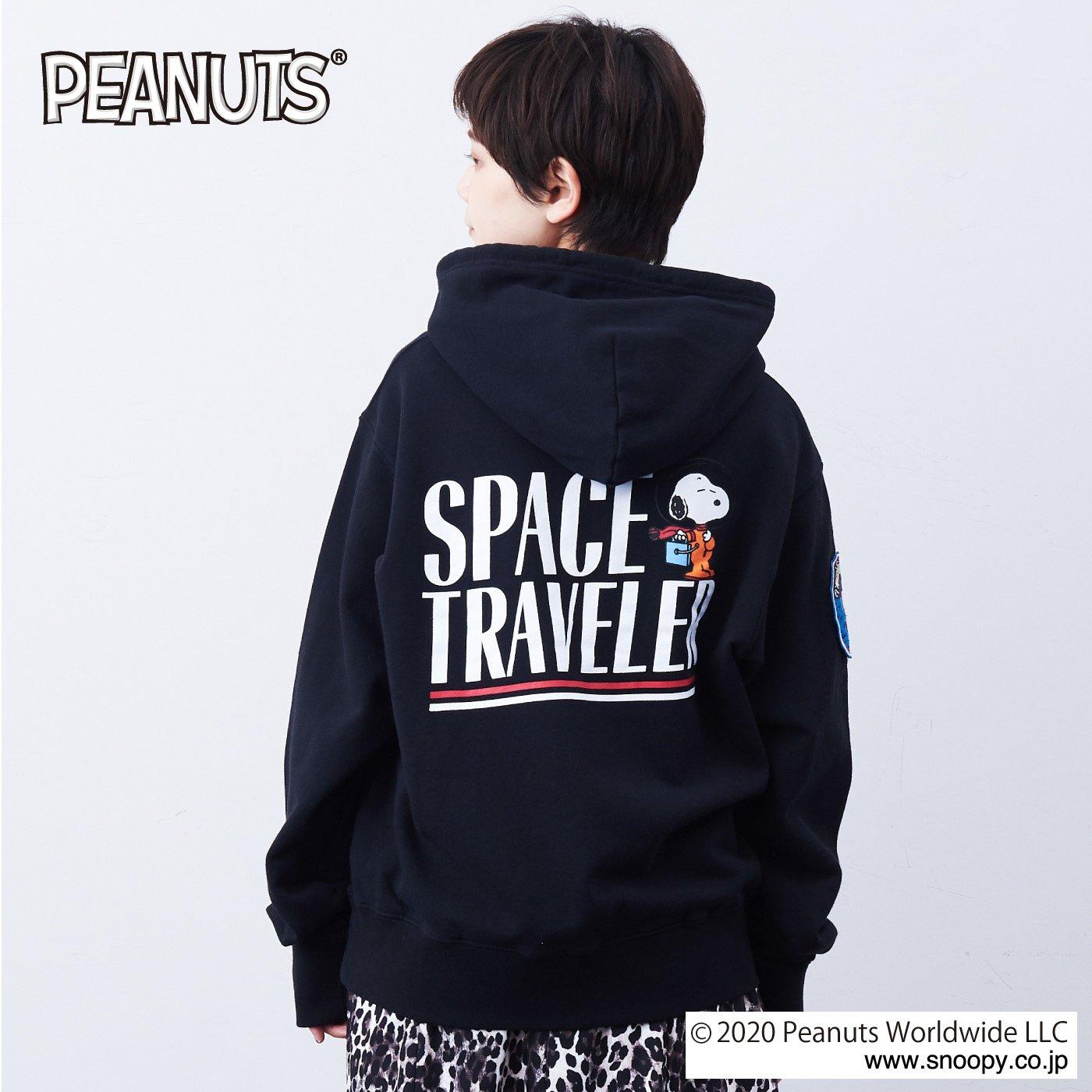 MEDE19F 〈SELECT〉 【ALPHA × PEANUTS 】SPACE TRAVELER HOODIE〈BK〉
