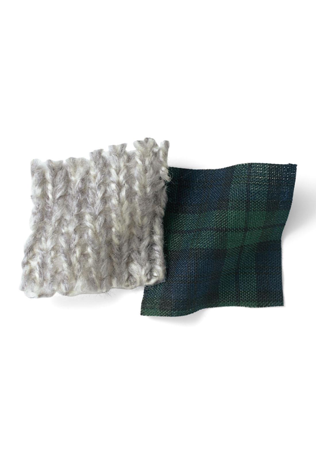 身ごろはすっきりとした天じく編み。ミックス糸だからこその表情が魅力。 ※お届けするカラーとは異なります。