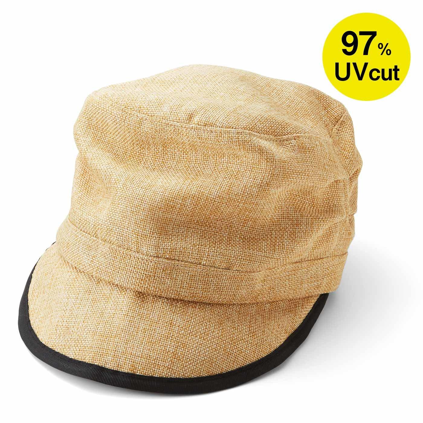 リブ イン コンフォート UVカット率90%以上 髪の毛をむすんだまますっぽりかぶれるすっぴん隠し帽子〈ナチュラルベージュ〉