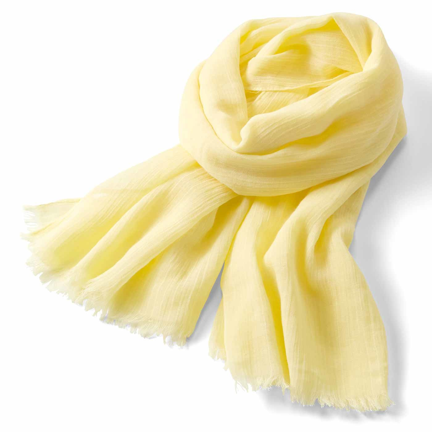 リブ イン コンフォート シンプルライフ研究家マキさんとつくった 何通りも使える差し色ストール〈レモン〉