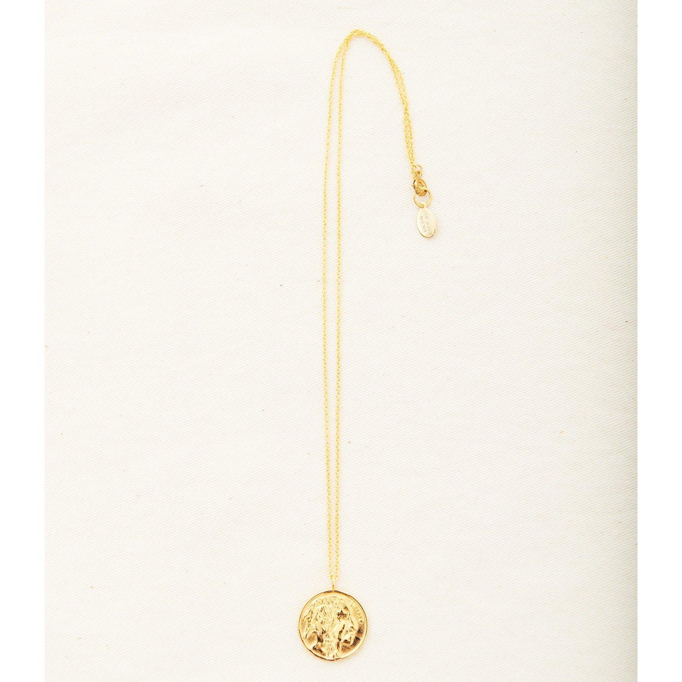 IEDIT[イディット] SELECT chibi jewels ネイティブデザインのコインメダリオンネックレス〈ゴールド〉