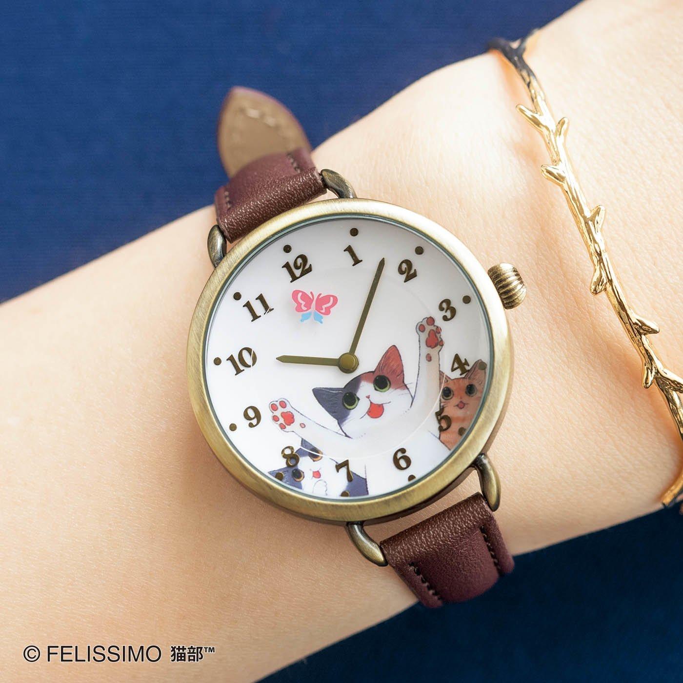 漫画家山野りんりんさんとつくった チョウチョつかまえたいニャー腕時計