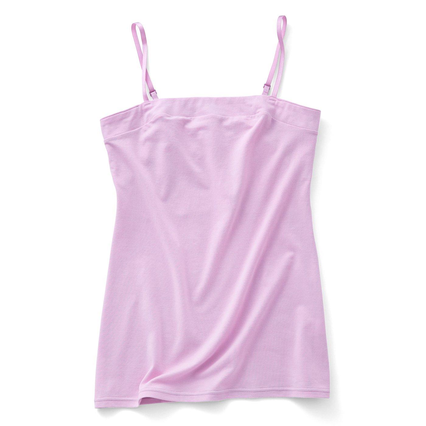 こっそりスマートにエチケット対策 胸汗キャッチャー付きキャミソール〈ピンク〉