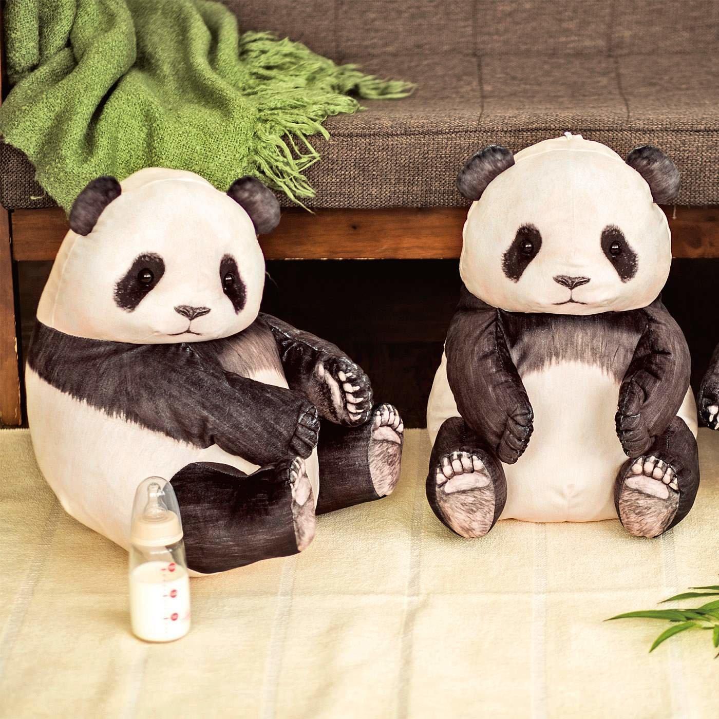 YOU+MORE! まるでパンダの幼稚園 いたずら子パンダクッションケースの会