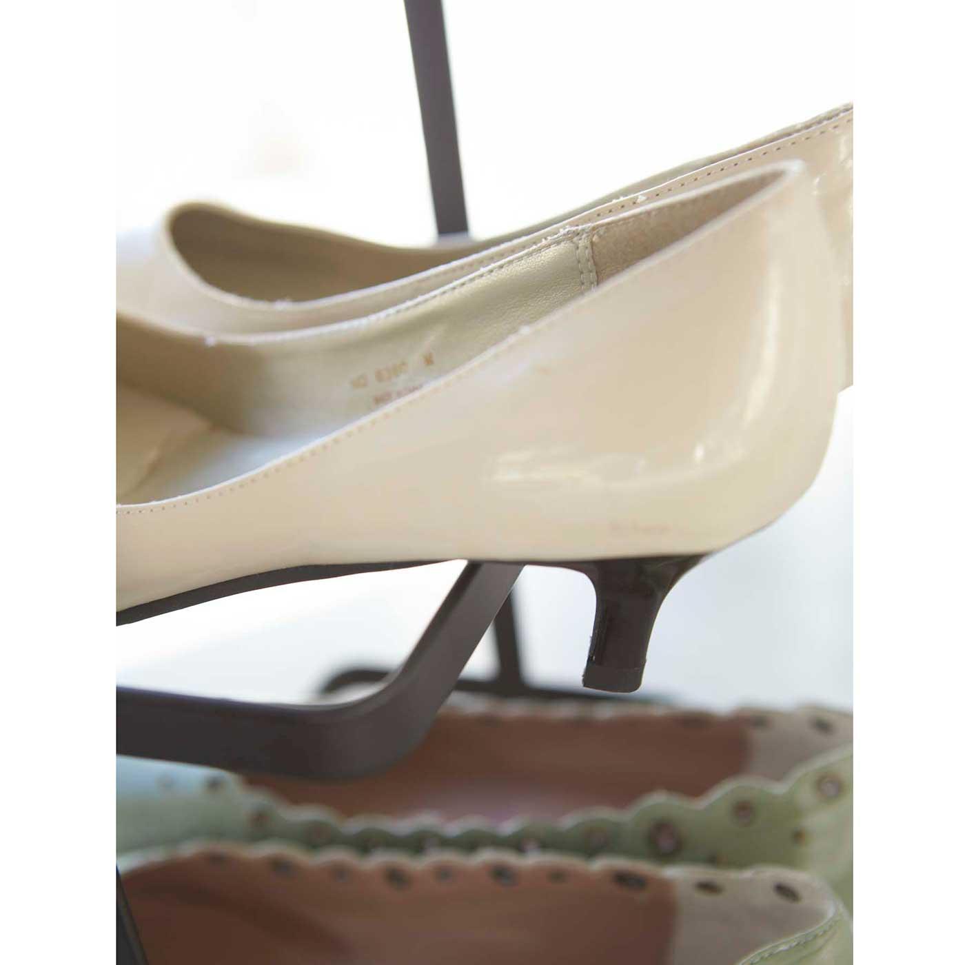 ヒール靴も、きれいに収まります。
