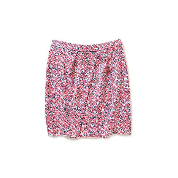 NUSY ウシロマエ着られるツーウェイタックススカート:レッド×ネイビー