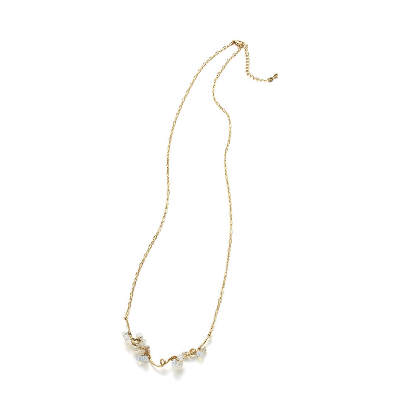 フェリシモ サニークラウズ 金色の蔓ネックレス