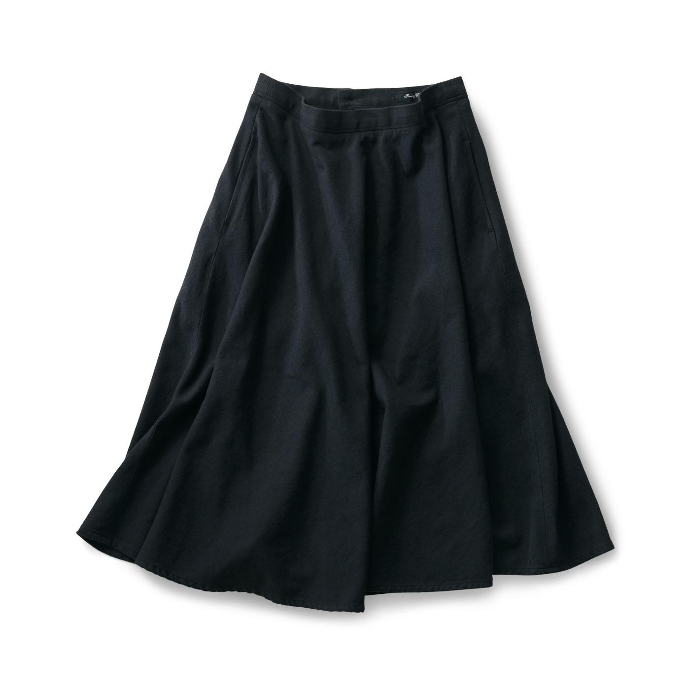 フェリシモ サニークラウズ 半円フレアスカート黒