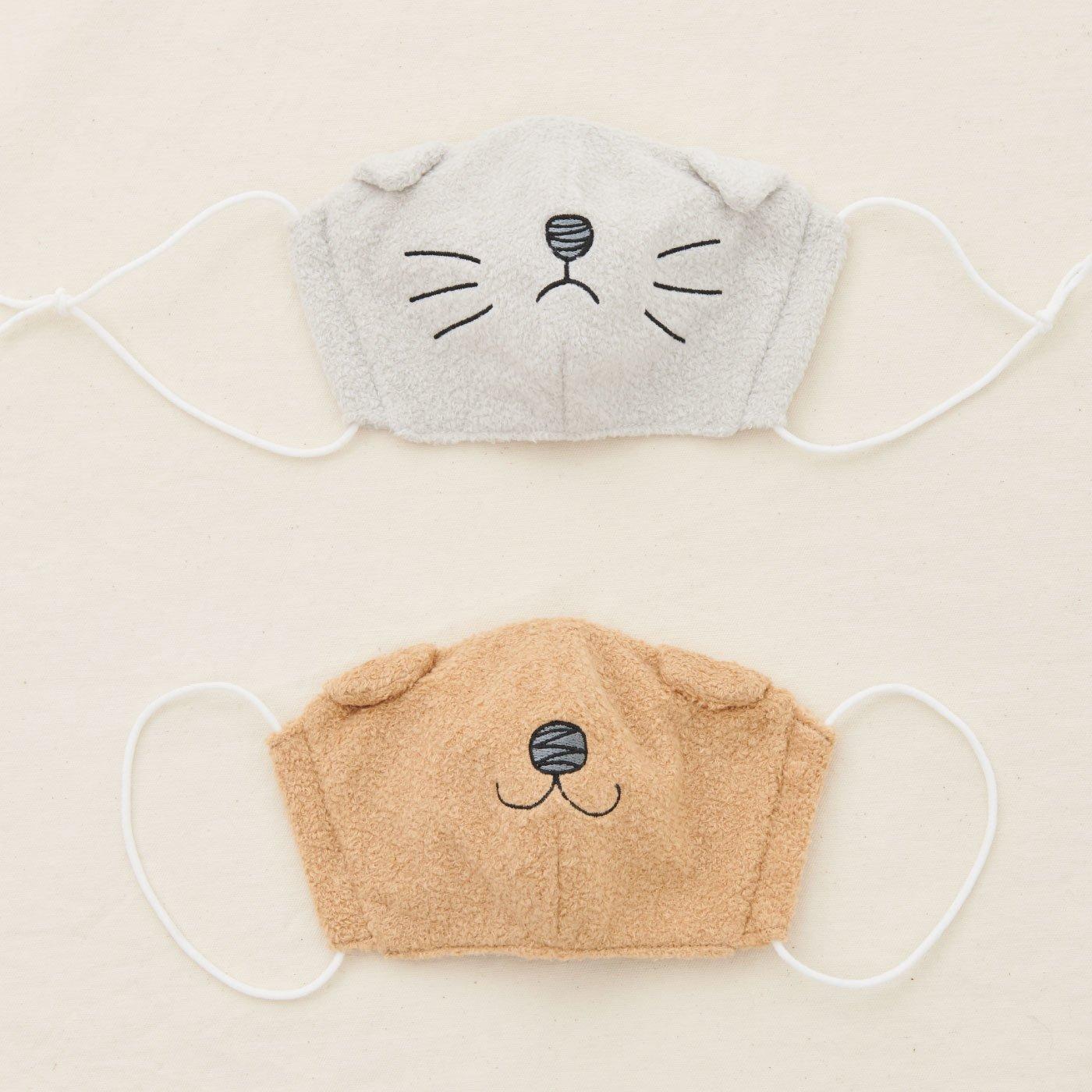 【WEB限定】IEDIT[イディット] 大人も子どもも楽しい 内側コットン素材のキュートなどうぶつマスク