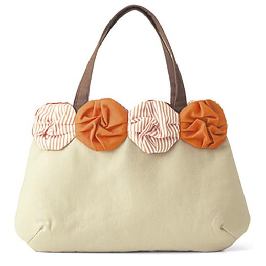 オリガミみたいなモチーフつなぐ 小さなバッグとポーチ