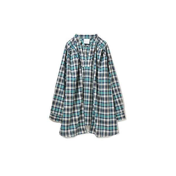 GOOD DAYS with GOOD CLOTHES 3-WAYにアレンジできるチェックカーテンシャツ(ブルー系)