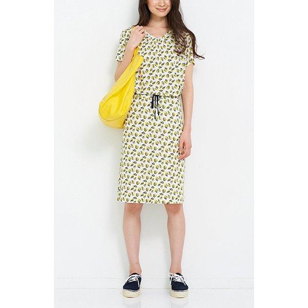 HIROMI YOSHIDA. 麻混素材の総柄プリントスカート〈ウネウネ柄〉
