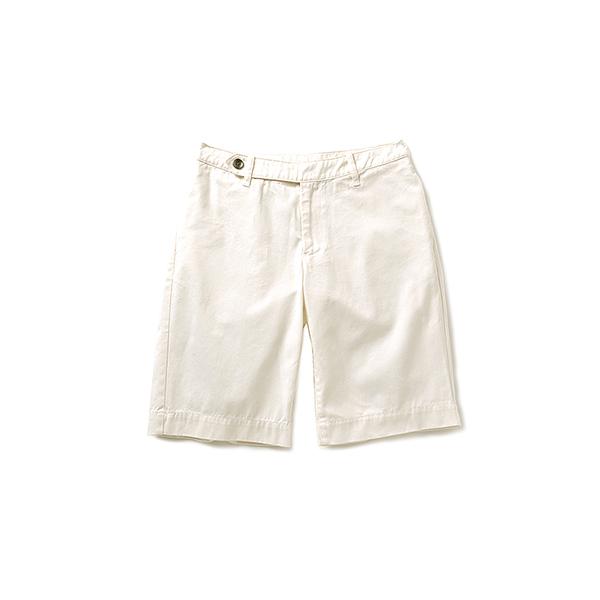 GOOD DAYS with GOOD CLOTHES すっきりとしたシルエットのグルカショートパンツ(ホワイト)