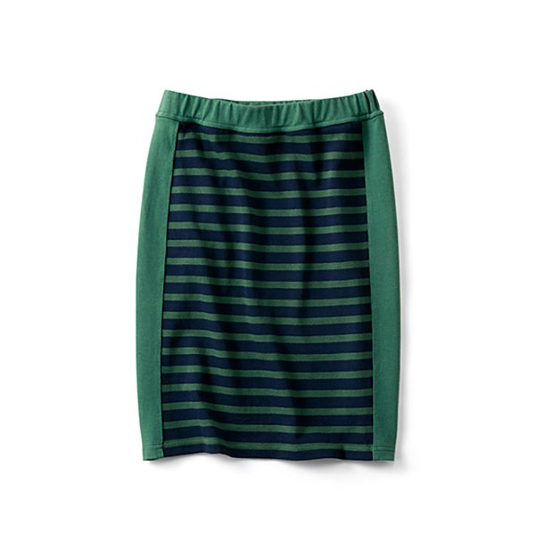 HIROMI YOSHIDA. 細見えカットソーボーダースカート〈グリーン〉