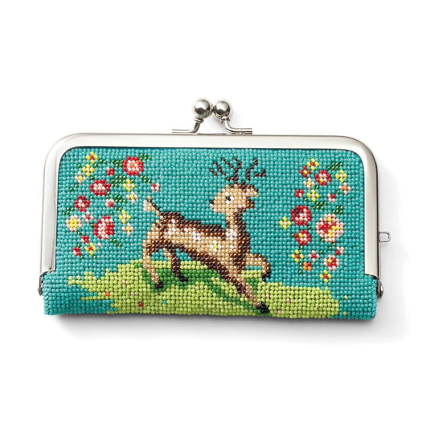 鹿と花(チケットケース)