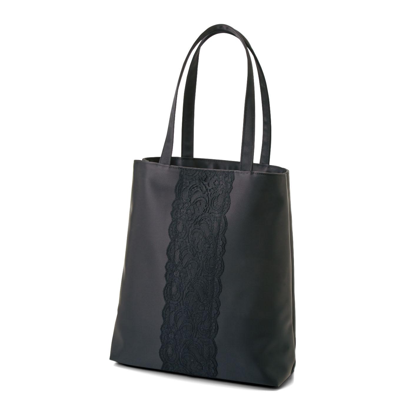 フェリシモ フォーマルシーンの持ち物を スマートにひとまとめ 上品ブラックバッグ