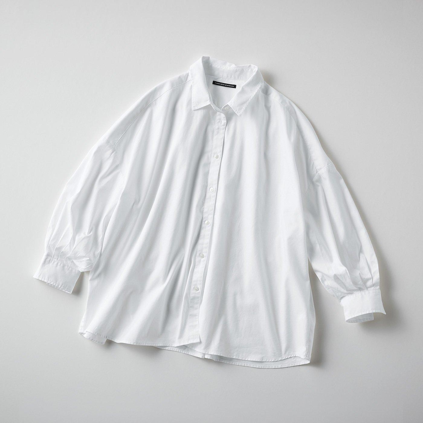 THREE FIFTY STANDARD 万能オックスの白シャツ