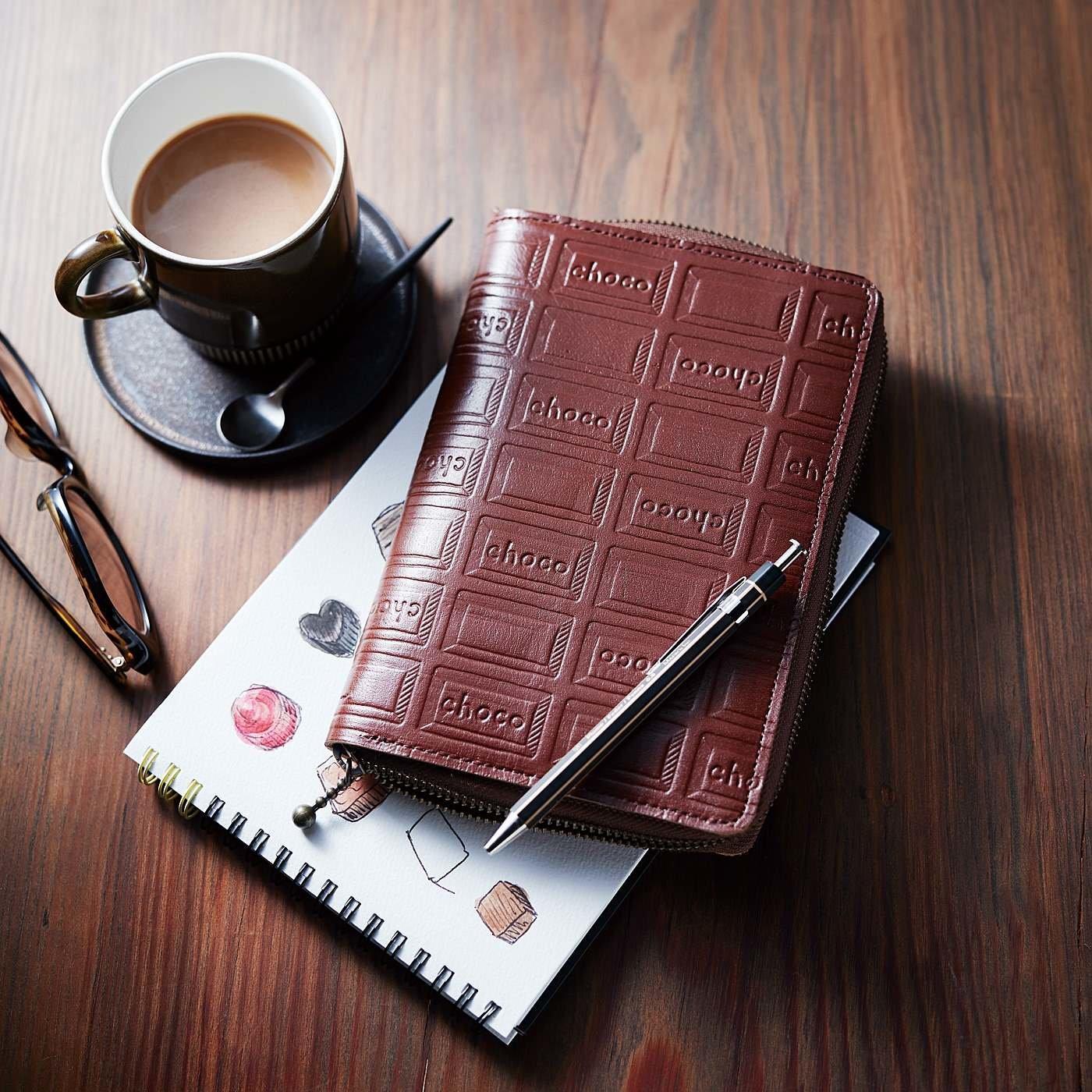 【2月お届け・雑貨便】職人本革のスケジュール帳板チョコカバー〈A6対応ラウンドジップタイプ〉