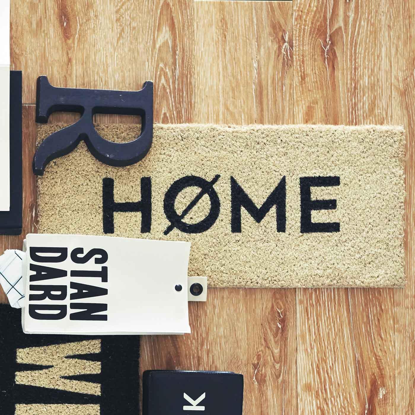フェリシモ 玄関マット〈HOME〉