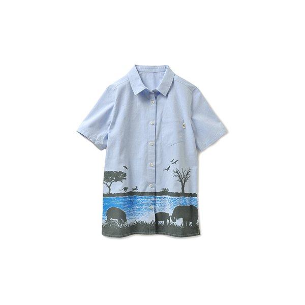 PaPaPARK! by YOSHIMOTO×FELISSIMO ガレッジセール・ゴリ プロデュース アフリカに抱かれるサファリシャツ(オトナ)〈デイ サファリ〉