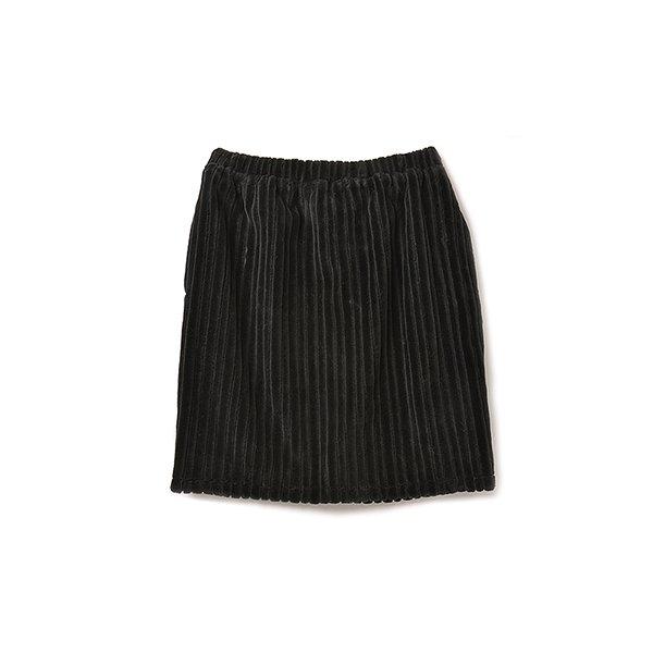 pilvee シャルロットケーキみたいなふわもこスカート:ブラック