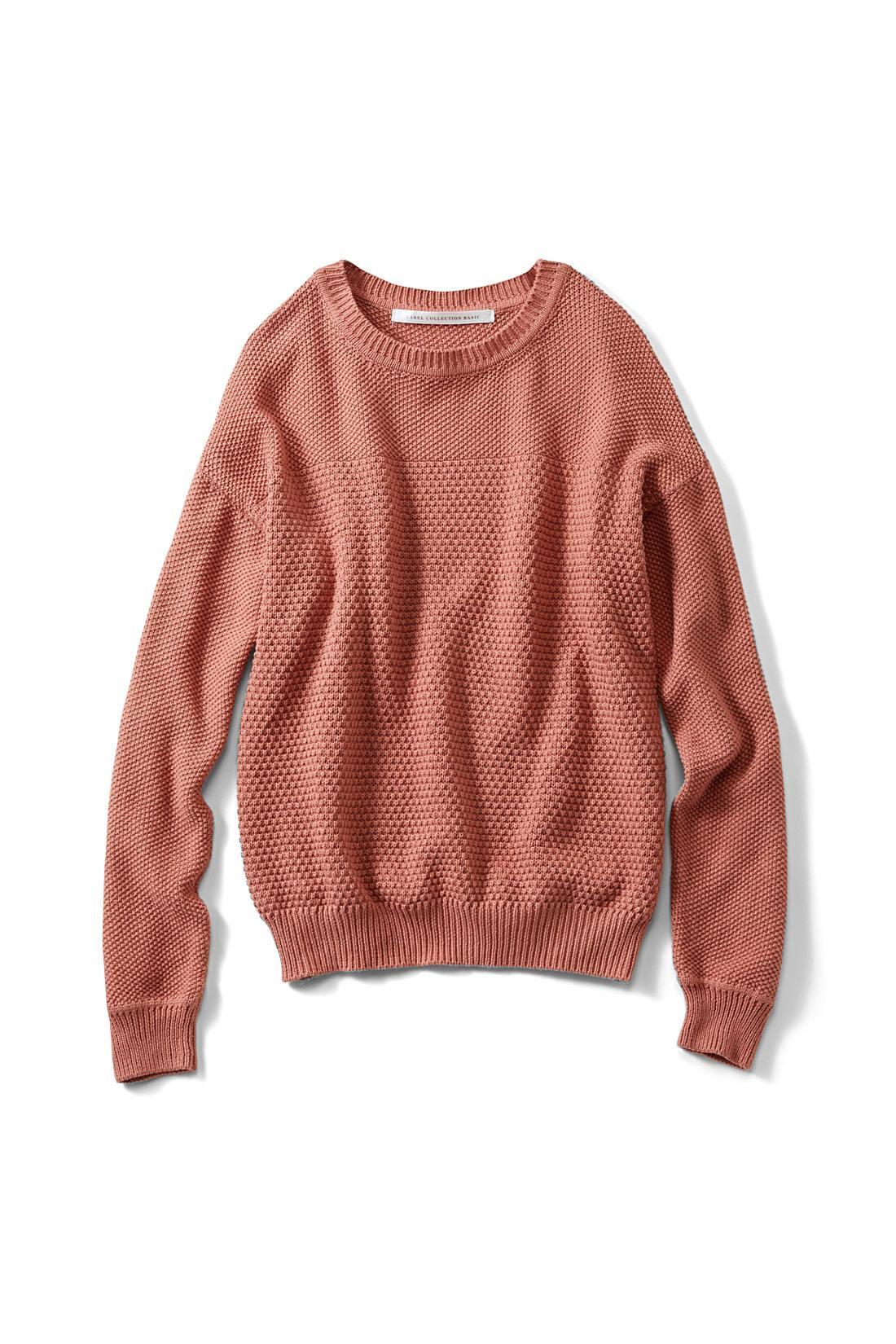 トレンド感高めの〈アプリコットオレンジ〉 トレンドのワイドパンツやスカートに合わせやすいコンパクトな丈感。