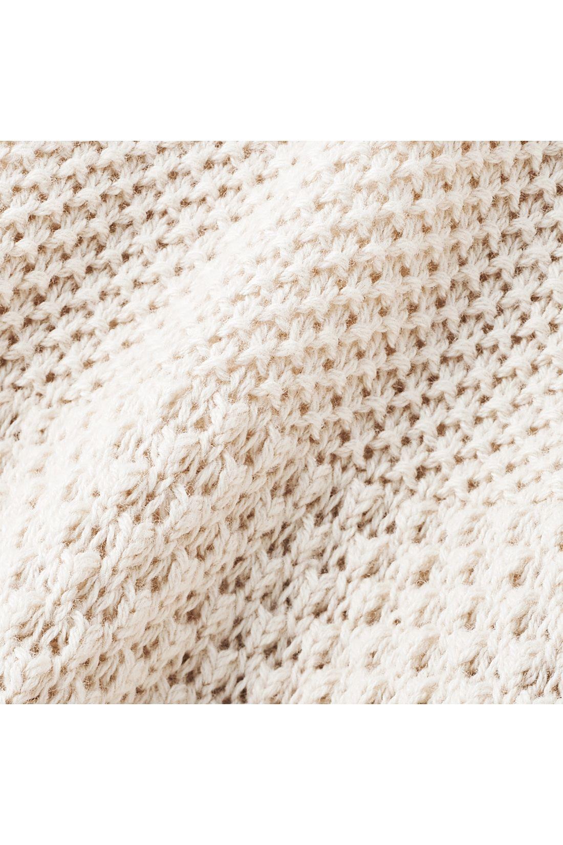 表情豊かで立体的な、かのこ&ワッフル編みの切り替えデザイン。※お届けするカラーとは異なります。