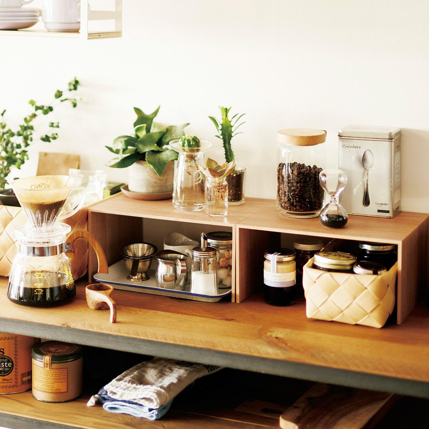 こまごましたキッチンアイテムの整理に。
