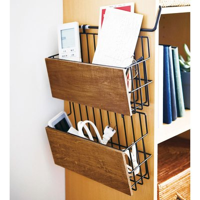 RoomClip商品情報 - 木とスチールの引っ掛けラック〈ブラック〉の会 フェリシモ FELISSIMO