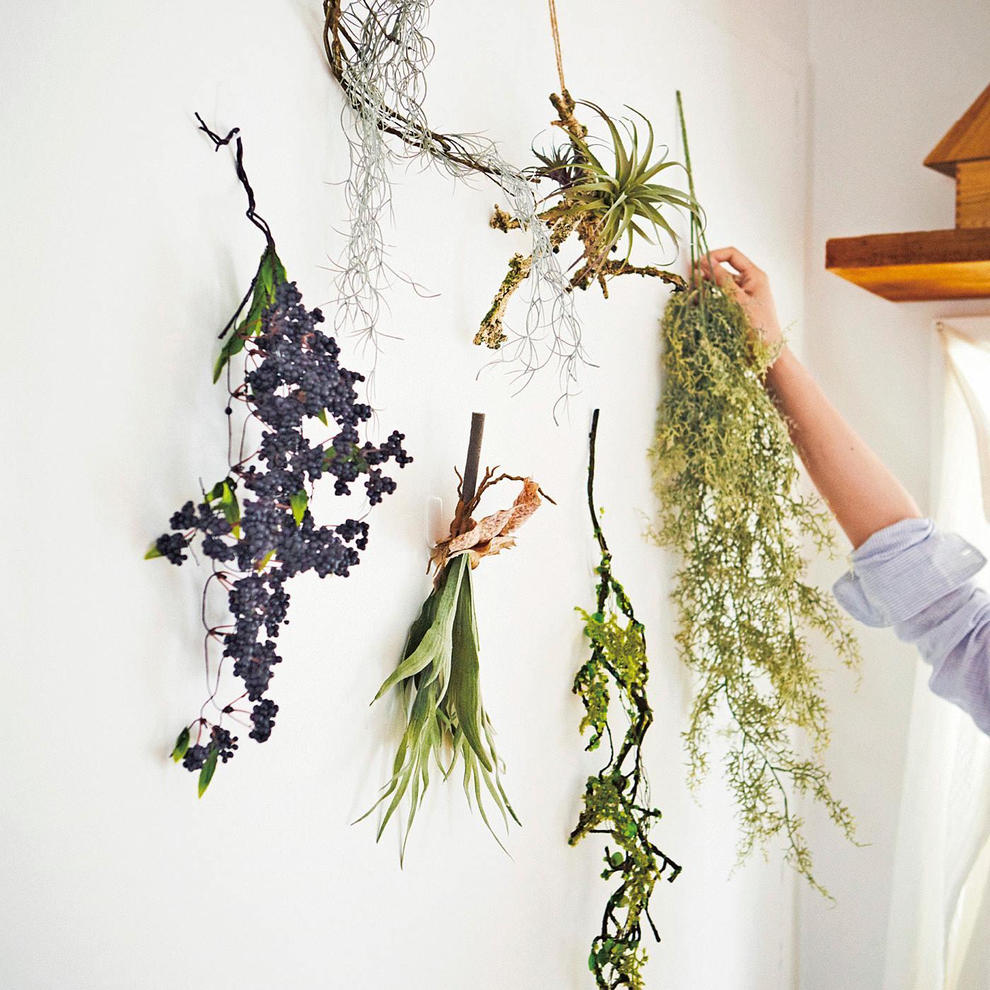 フェリシモ お世話のいらない 壁を彩るフェイクグリーンの会