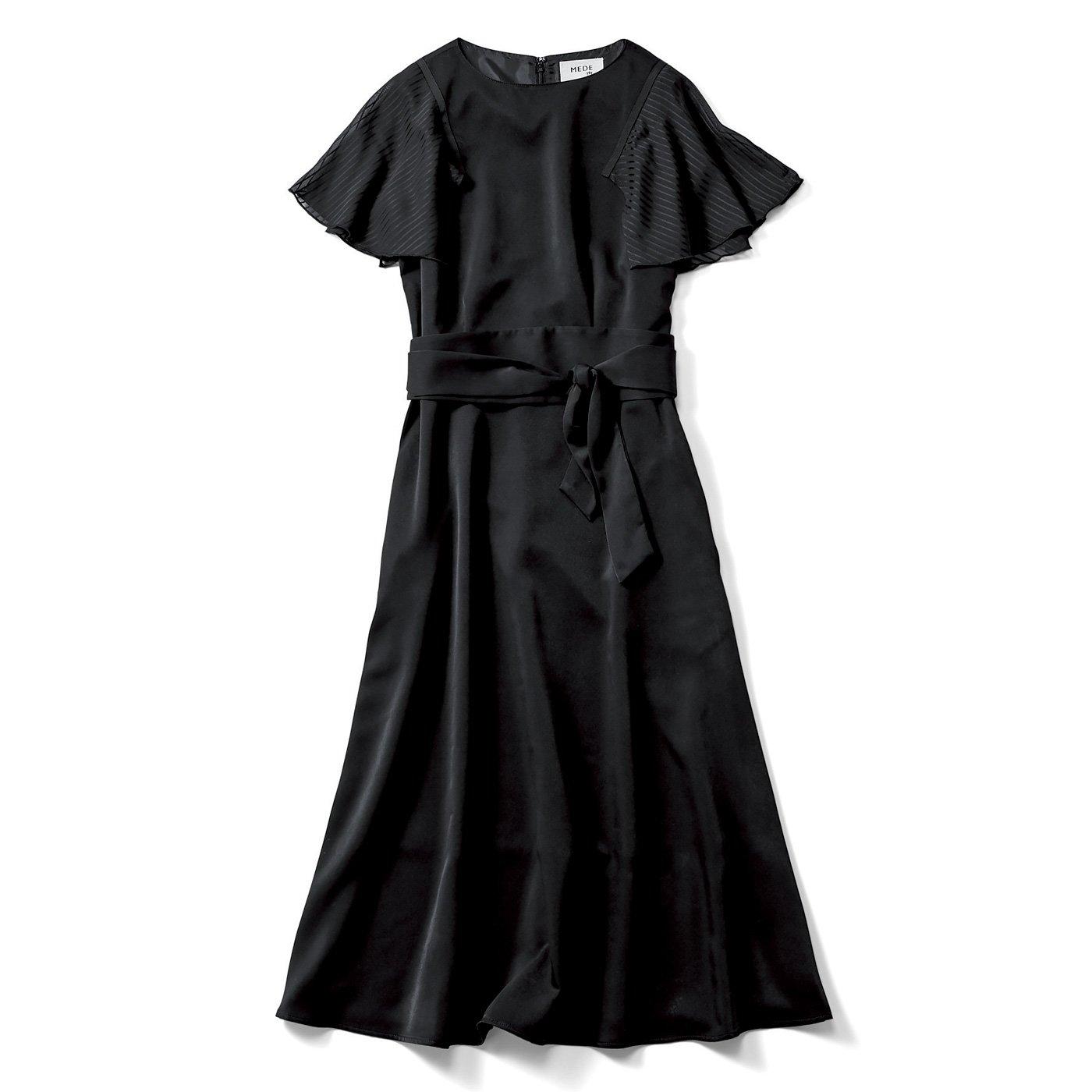MEDE19F ノーブルな印象のブラックドレス