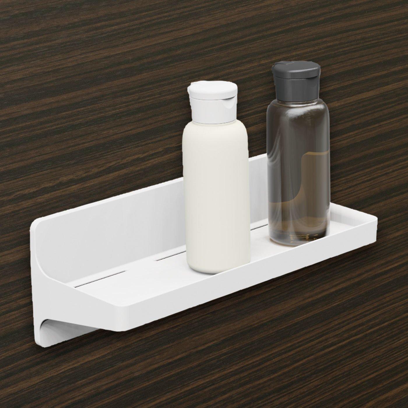 浴室の壁に貼り付く 磁着SQ マグネットバスミニシェルフ