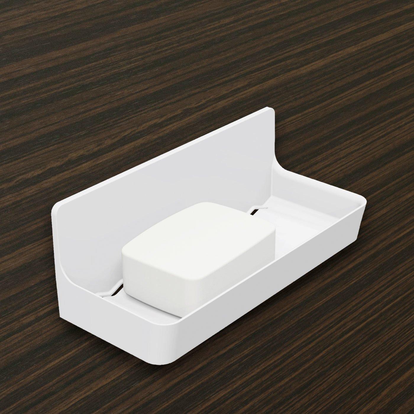 浴室の壁に貼り付く 磁着SQ マグネットバストレイ