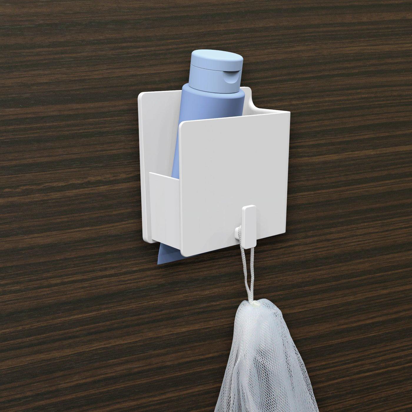 浴室の壁に貼り付く 磁着SQ マグネットバスチューブホルダー