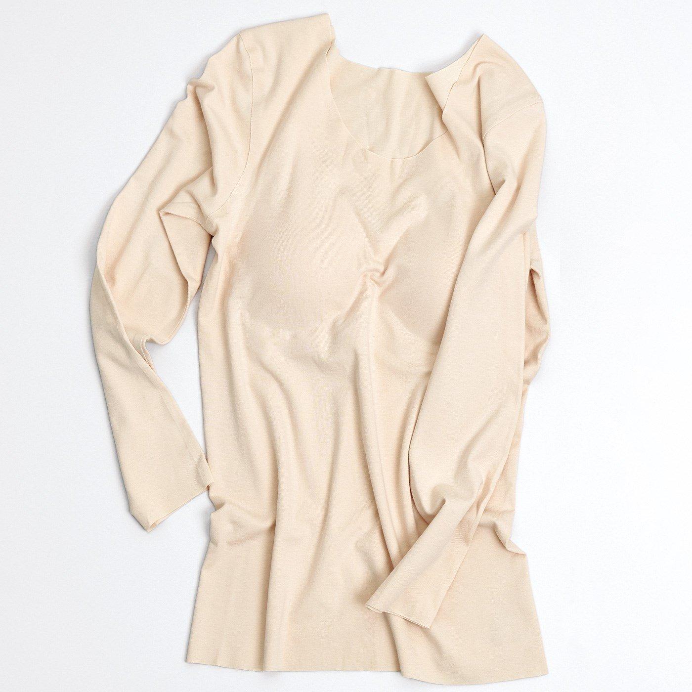 【おはだが気になるみんなへ】完全無縫製(R) KIREILABO(R) 八分袖パッド付きインナートップスの会