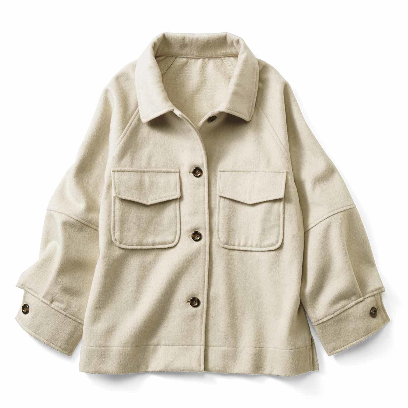 【3~10日でお届け】IEDIT[イディット]  小森美穂子さんとコラボ ロングシーズン着られる きれいめこなれジャケット〈エクリュベージュ〉