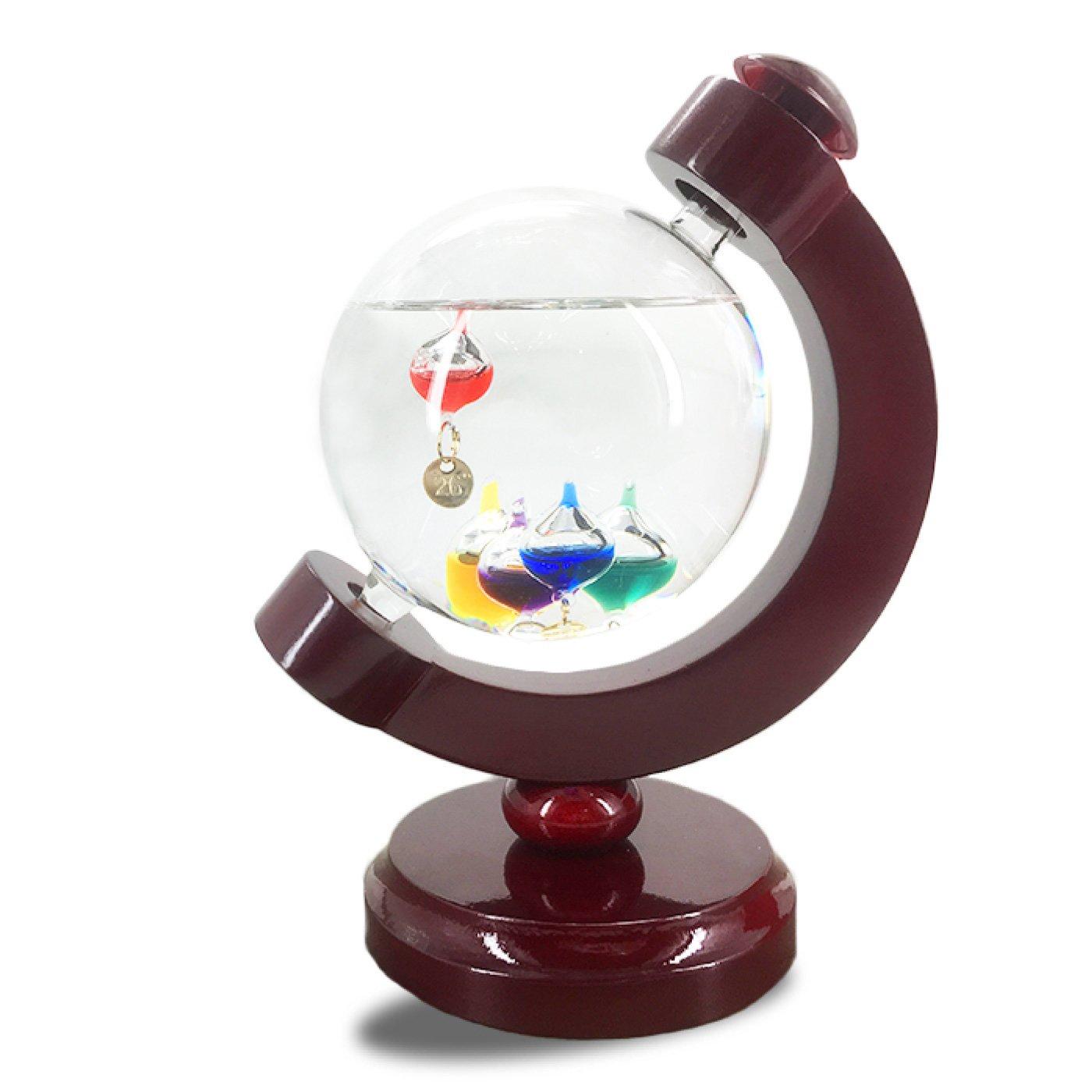 ぷかぷか浮かぶガラスが教えるガリレオ温度計