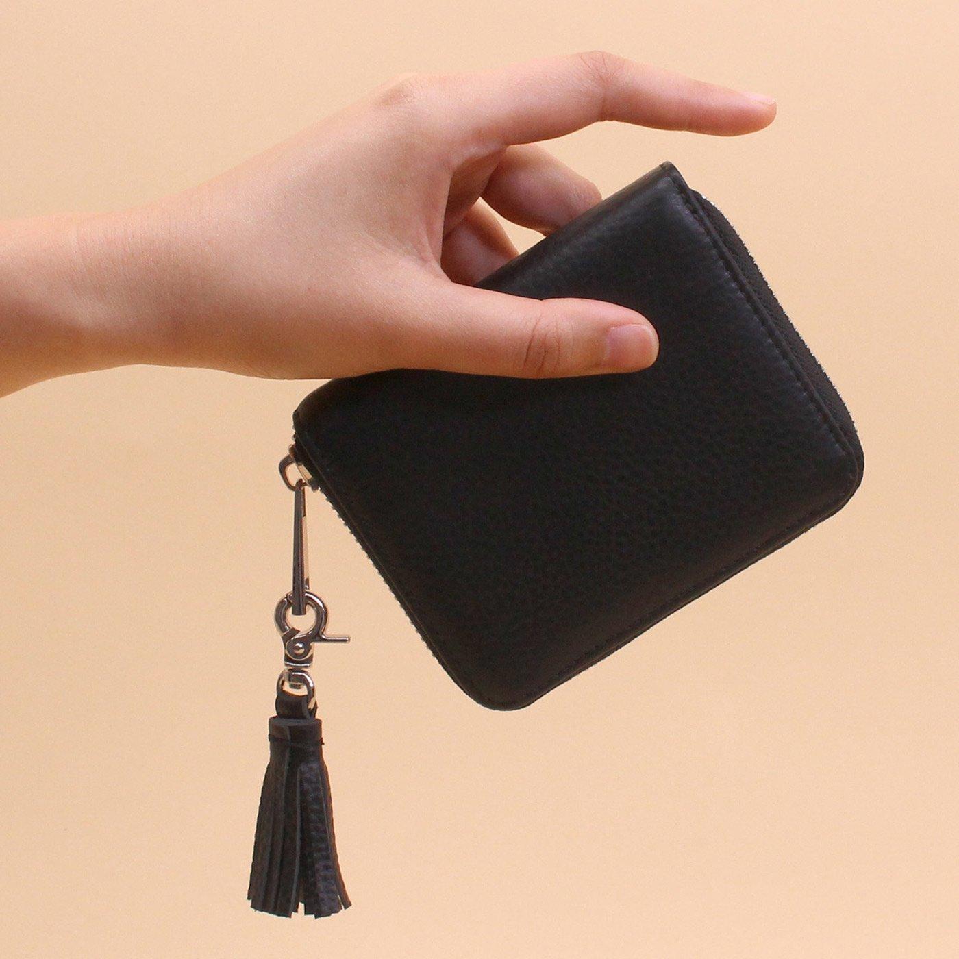 IEDIT[イディット] SELECT 小銭が見えやすいやわらか艶レザー本革ミニ財布 BS-30062