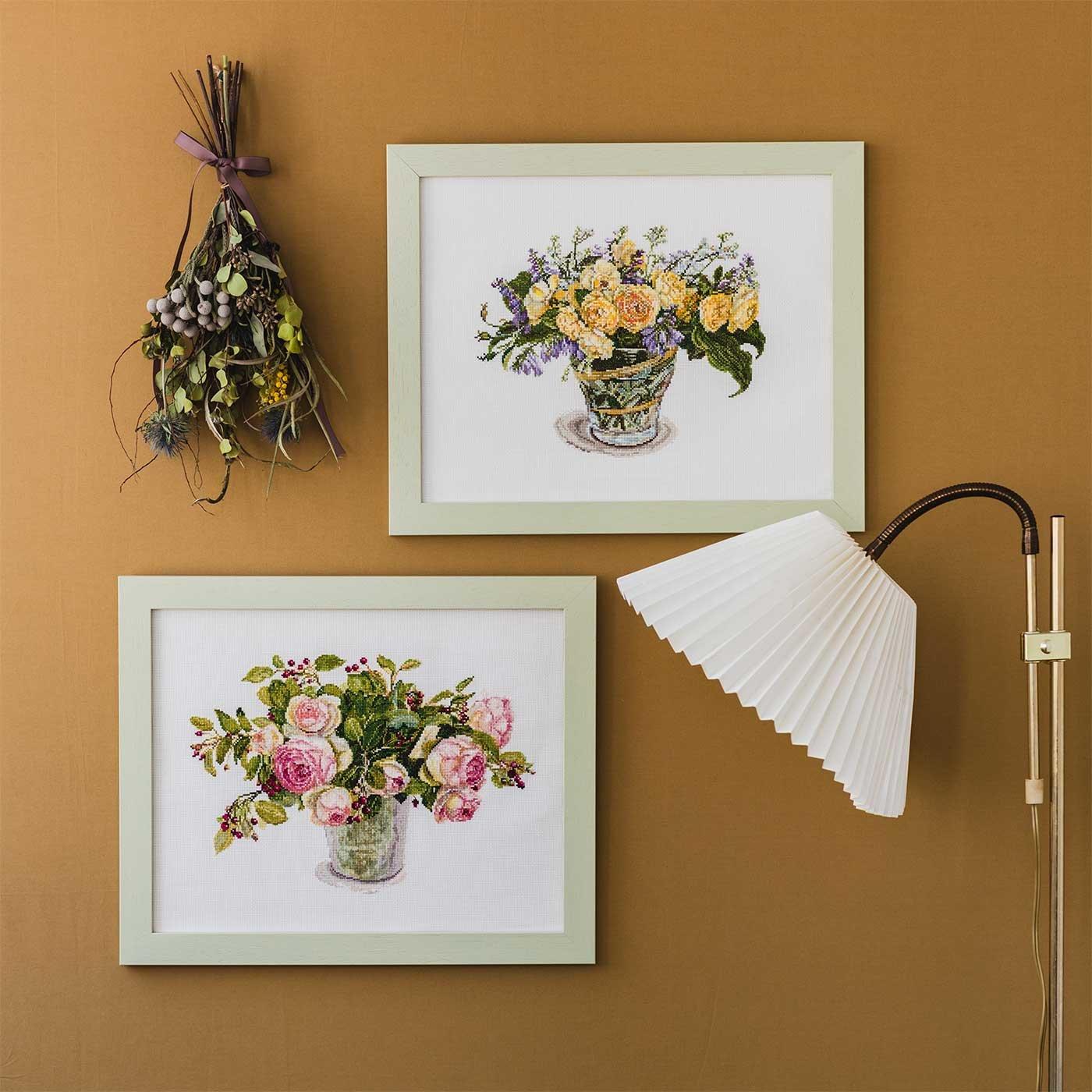 みずみずしい花の水彩画 Fujicoコレクション クロスステッチキット