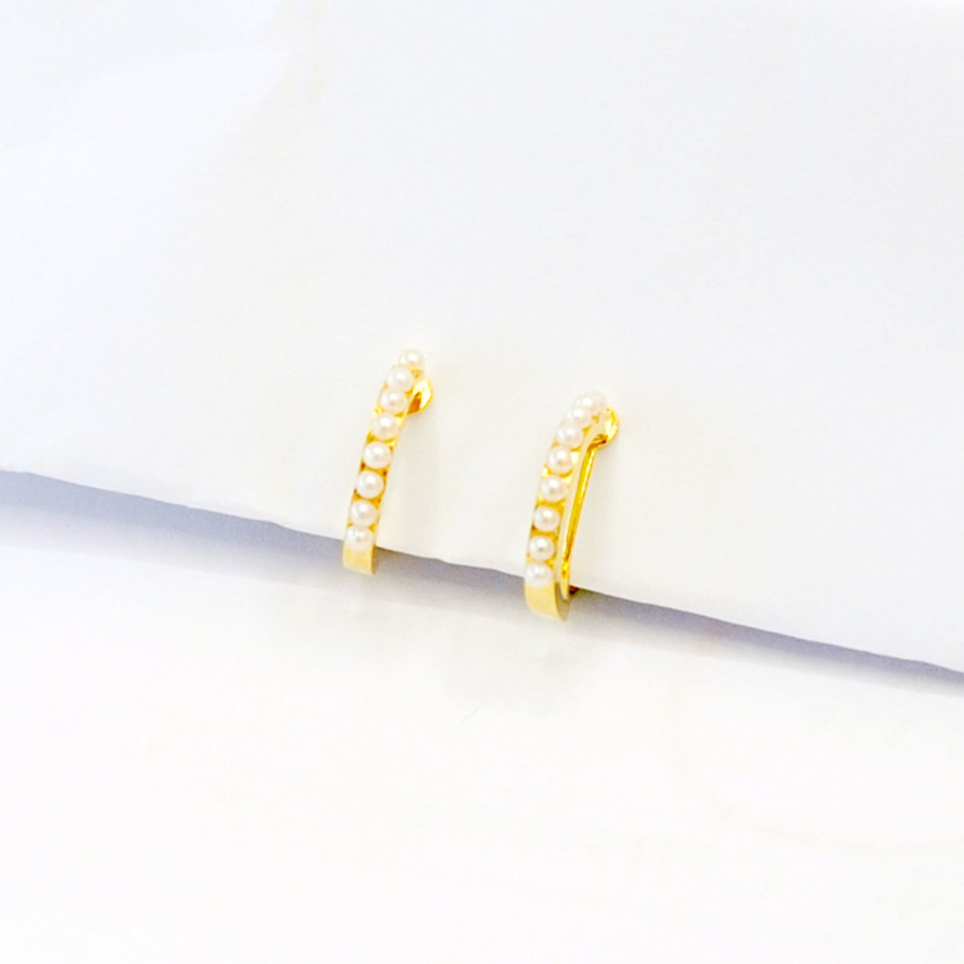 IEDIT[イディット] SELECT プチパールビーズのイヤリング〈ゴールド〉