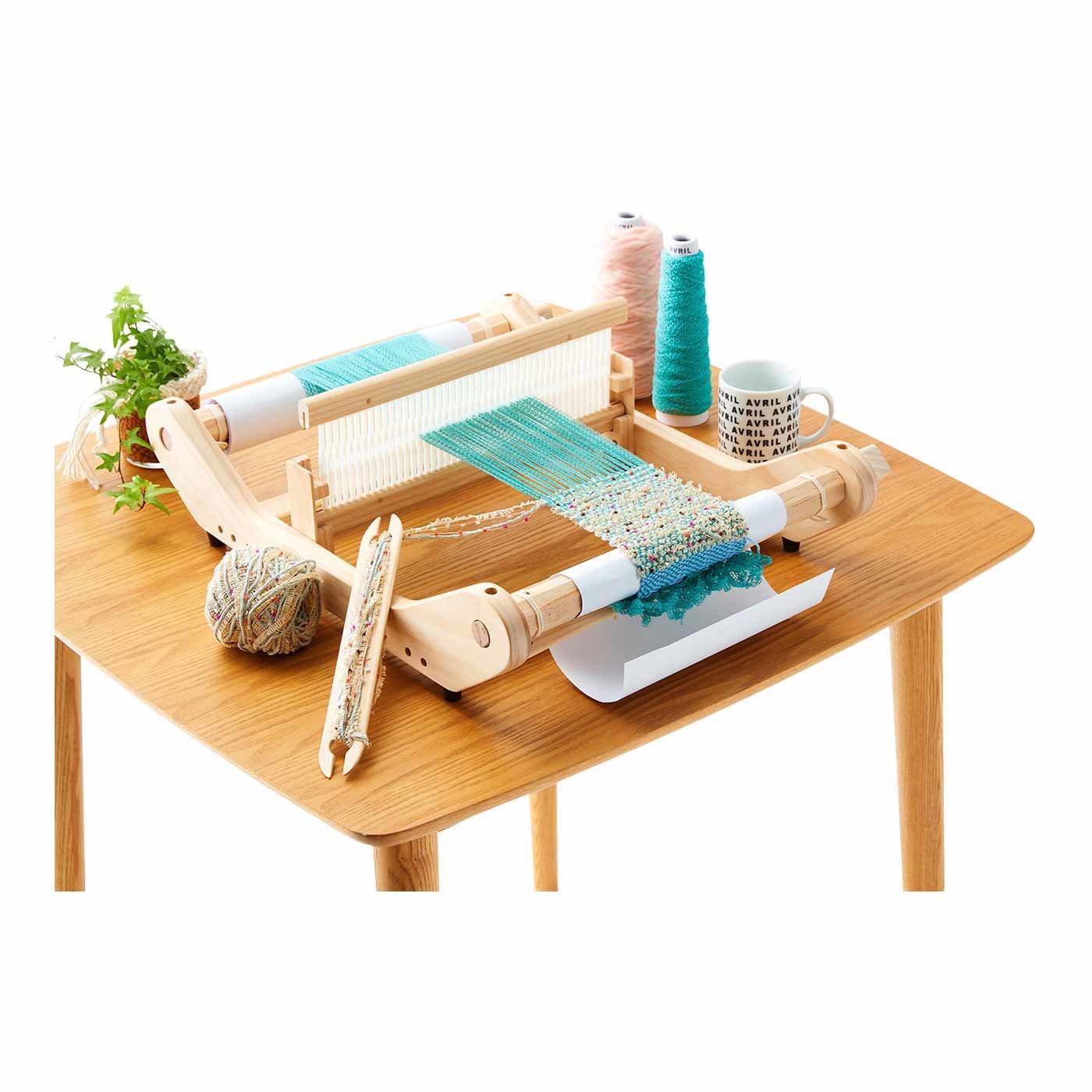 アヴリル オリジナル卓上織機&レールリボンのコースターキット&トートバッグ(アヴリルの手織りノート1、2付き)