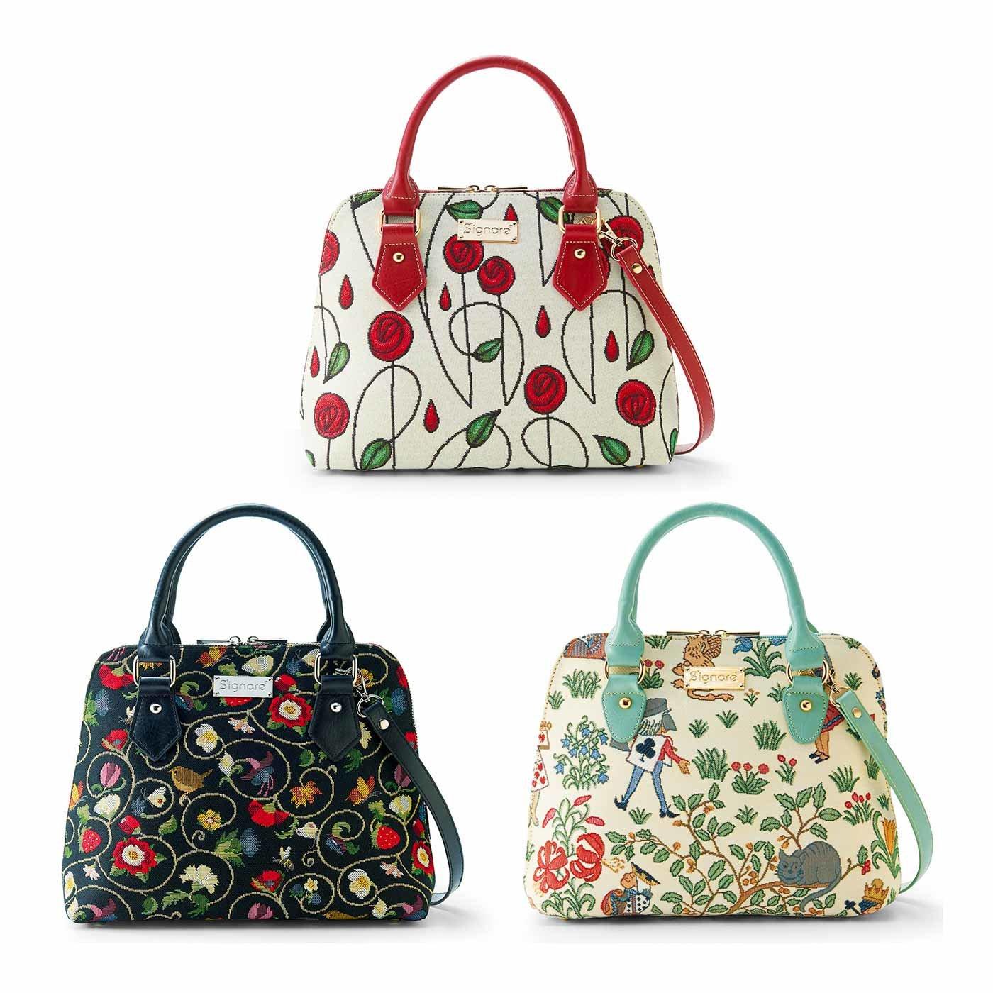 Signare(シグナーレ) 旅のおともに アートを織り込んだゴブラン2WAYバッグ