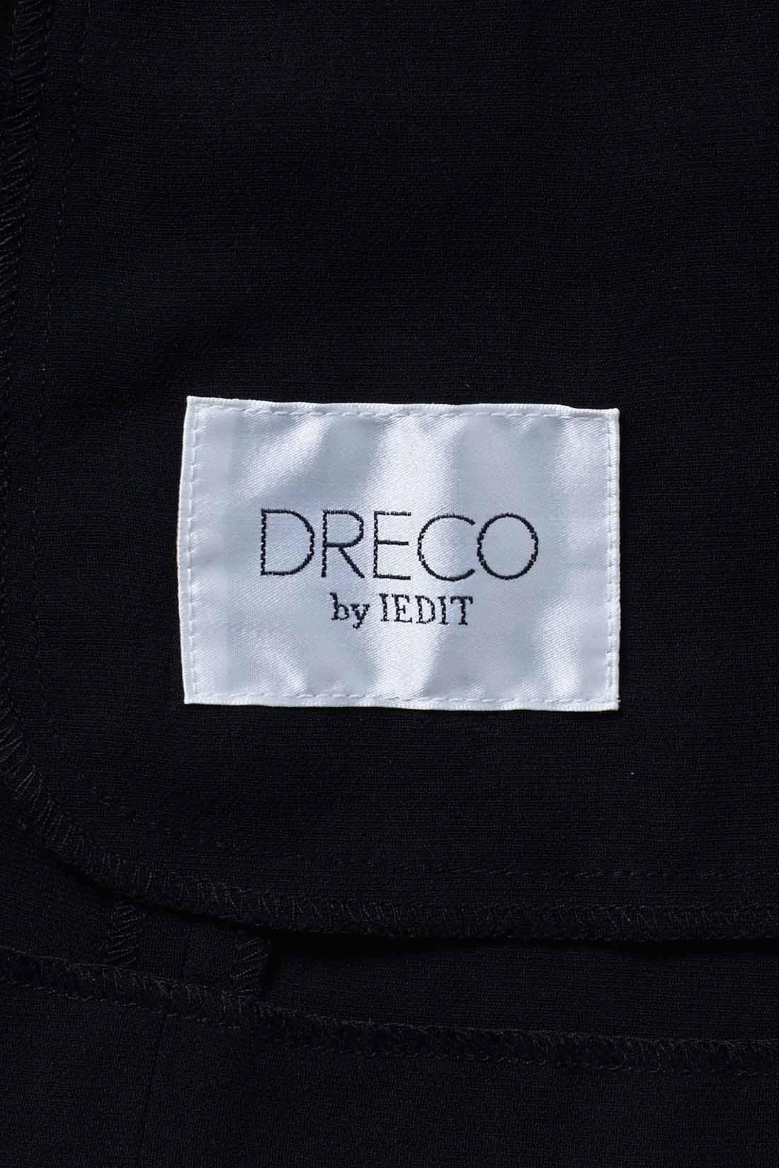 左ポケット位置の内側にはDRECOのブランドタグ。
