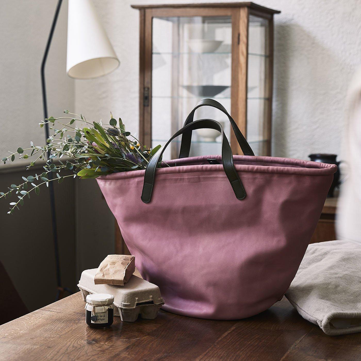 スタイリストの願いを叶えた 職人本革のお仕事鞄〈桜色〉[本革 鞄:日本製]